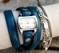 Charm Watch ~ DIY using a recycled belt