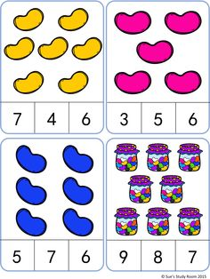 Jelly Bean Count and Clip Cards