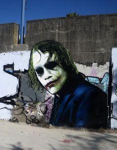 Awesome Joker graffiti
