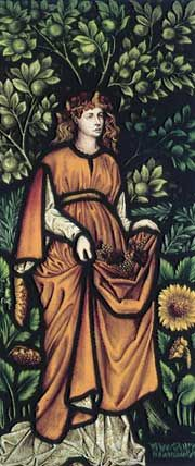 'Autumn' by William Morris, an example of Cragside's stained glass