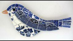 Bird mosaic garden decorations