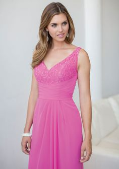 2015 V-neck Sleeveless Ankle Length Ruched Chiffon Pink Evening / Formal Dresses 5172