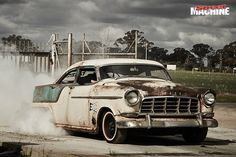 A wild, chopped FC Holden, built for dragging in the dirt and freaking out the squares! Custom Trucks, Custom Cars, Hot Rods, Holden Australia, Holden Monaro, Aussie Muscle Cars, Australian Cars, Ford Galaxie, Ford Trucks