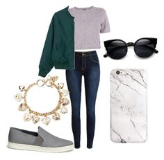 """""""Untitled #19"""" by krishnabhagat ❤ liked on Polyvore featuring Monrow, Vince, Forever 21, women's clothing, women's fashion, women, female, woman, misses and juniors"""