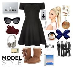 """""""Model Style"""" by kalliekat456 ❤ liked on Polyvore featuring River Island, UGG Australia, Karen Walker, Incase, Lucky Brand, M&Co, Beats by Dr. Dre and In God We Trust"""