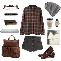 Untitled #181 by the59thstreetbridge on Polyvore featuring Talbots, FOSSIL, INC International Concepts, Barts and Moleskine