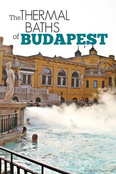 Thermal baths are to Budapest what baguettes and boulangeries are to Paris or yellow taxis are to New York. Locals and visitors enjoy the cleansing and healing benefits of the thermal water, sometimes while enjoying a rousing game of chess. Via @insidetravellab http://www.insidethetravellab.com/the-water-of-winter-baths-in-budapest/