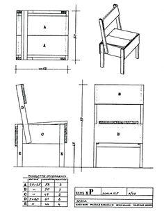 Sedia 1  Design: Enzo Mari