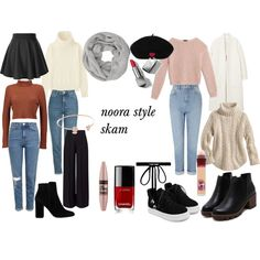 A fashion look from December 2016 featuring Max&Co. sweaters, Uniqlo sweaters and Boohoo sweaters. Browse and shop related looks. Fall Outfits, Cute Outfits, Fashion Outfits, Womens Fashion, Fashion Trends, School Looks, Noora Skam Style, Mode Pastel, Outfit Invierno