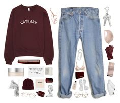 """""""☾WHEN i WAS SiX YEARS OLD"""" by siamesecat-1 ❤ liked on Polyvore featuring RMK, Billabong, Mark & Graham, Dr. Martens, Aveda, Levi's, Oribe, Davines, Mason Pearson and NARS Cosmetics"""