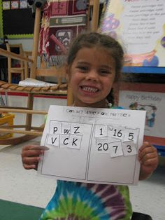 Mrs. Morrow's Kindergarten: Beginning of the Year sorting letters and numbers.