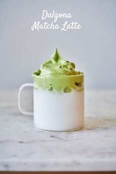 Step up your matcha moment with Candice at Proportional Plate! Our favorite matcha lover gives her spin on the Dalgona Matcha Latte- a sweet latte topped with whipped matcha foam. Tea Recipes, Coffee Recipes, Dessert Recipes, Kitchen Recipes, Curcuma Latte, Matcha Latte Recipe, Caffe Latte Recipe, Matcha Drink, Matcha Cafe