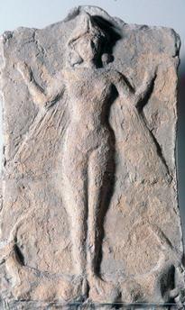 Goddess Ishtar With Symbolic Motifs, Babylonia, c. 1700 b. c.                                                                                                                                                     Plus
