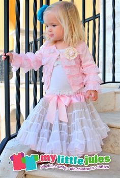Dollcake - Girls Pink Knitt Cardigan with Layered Lace  Kinsley needs this dress