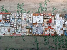 wall at the bus stop