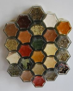 magnetic spice jars - wonder where I could get a strong magnetic strip and whether baby food jars would work...