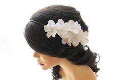 Bridal+head+piece+White+flower+crown+Wedding+by+HILDASelements,+$50.00