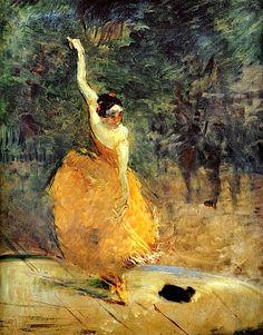 Henri de Toulouse-Lautrec - 'The Spanish Dancer', 1888.