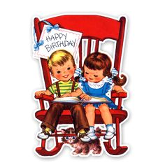 I love this vintage card.  I had will and deal on ebay for this adorable card! Its now available as a die-cut in our store. $1.99