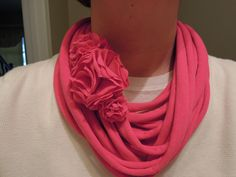 My spin on the T-shirt scarf