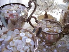 cups full of buttons