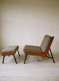 boomerang chair ottoman