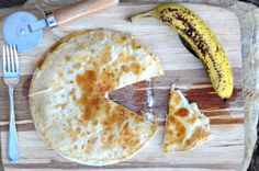 Caramelized Peanut Butter Banana Quesadillas. Breakfast? Lunch? Dessert?  I don't care. I just want to eat it. <3 eks