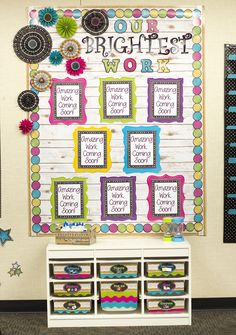 Chalkboard Brights Classroom Decorations from Teacher Created Resources – The look that will never go out of style! The bright colors of this chalk theme are so versatile and pair perfectly with other pink, blue, and green borders and accents. Add a touch Classroom Decor Themes, School Decorations, School Themes, Classroom Design, Classroom Organization, Classroom Ideas, Classroom Displays Secondary, Chalkboard Classroom, Chalkboard Decor