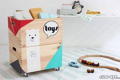 DIYnachten: maluj pudła z zabawkami