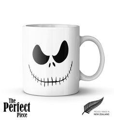 Jack Skellington Ceramic Mug - Quote Mug, Statement Mug, Unique Coffee Mug, Gift Mug, Gift for Her, Gift for Him by PerfectPieceShop on Etsy