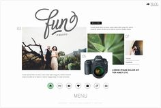 collage-like website design