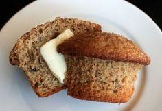 Amish Friendship Bread Cinnamon Raisin Walnut Muffins by @FBKitchen and photo by Kitchen Friend Rachelle Bowden