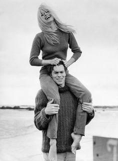 Laurent Terzieff and Brigitte Bardot