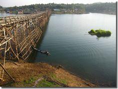 Sangkhlaburi, Thailand  ~ don't think I'd want to cross that bridge!