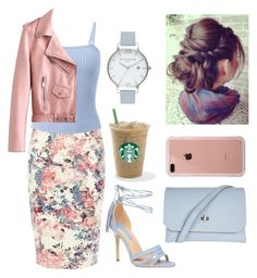 """""""Pretty in Pastels"""" by kaitydidwhat ❤ liked on Polyvore featuring Warehouse, Dorothy Perkins, Topshop, Olivia Burton and Belkin"""