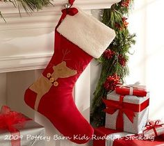 Life is {Sew} Daily: Pottery Barn-Inspired Reindeer Stockings {DIY}