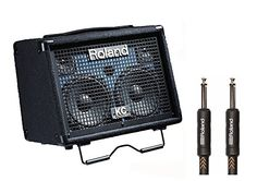 Roland+KC-110+30-watt,+3-channel+Stereo+Keyboard+Amplifier+with+RIC-B15+Premium+Black+Series+15ft+Instrument+Cable