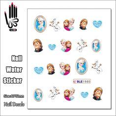0.39$  Watch here - 1 Sheet Cheap Nail BLE1980 Cartoon Ice Snow Princess Nail Art Water Transfer Sticker Decal Sticker For Nail Art Decoration   #aliexpresschina