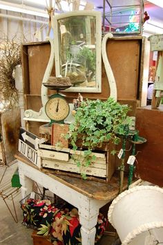 Vintage Show Off: Instant Spring Look in Your Booth - Just Add Plants!