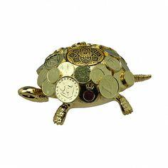 Настольный звонок Денежная Черепаха - дорогой бизнес-сувенир, покрытый золотом