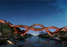 Futuro puente para la provincia #China de #Hunan que tiene como nombre #Dragón #King #Kong #Arquitectura e #ingeniería