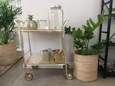 1950's brass drinks trolley #recycled #decor #reuse
