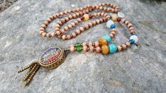 Your place to buy and sell all things handmade White Agate, Green Agate, Tassel Necklace, Beaded Bracelets, Blue Yellow, Orange, Spiritual Meditation, Agate Beads, Carnelian