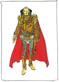 """concept art by Moebius, for Jodorowsky's Dune "" Jean Giraud, Jodorowsky's Dune, Dune Art, Character Concept, Character Art, Concept Art, Character Design, Frank Herbert, Movies"