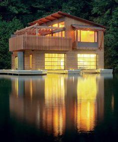 modern boathouse   via remain simple.