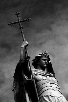 Statue of Warrior Angel at Prospect Cemetery, Glasnevin, Dublin, Ireland