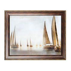 Golden Sails Framed Art Print | Kirklands