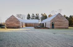 Casa Ry by Christoffersen Weiling Architects on Behance German Architecture, Innovative Architecture, Architecture Awards, Space Architecture, Concrete Path, Sweet Home, Best Barns, Garden Buildings, Maine House