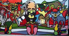 Murales para Colombo de la Brigada Ramona Parra