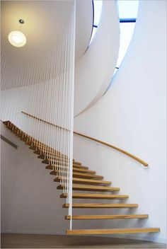 Floating staircase modern minimalist decoration present peaceful introduction